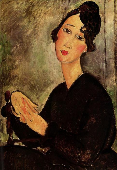 Dedie portréja, Modigliani