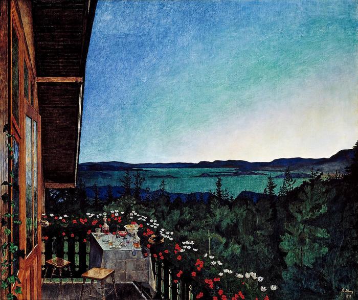 Nyári este, Harald Sohlberg