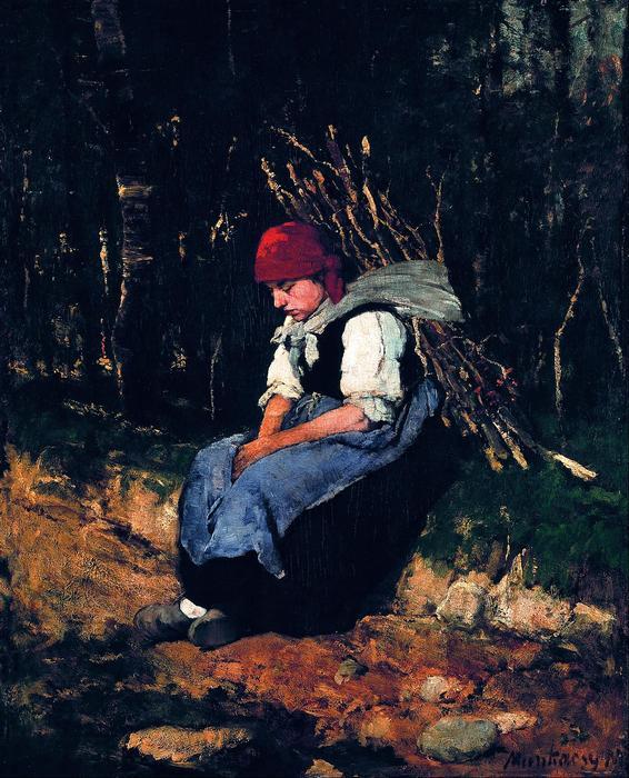 Rőzsehordó nő, Munkácsy Mihály