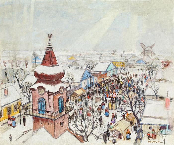 Szolnoki vásár télen, Pólya Tibor