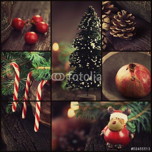 karácsonyi díszek kollázs, Premium Kollekció