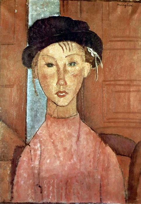 Lány kalapban, Modigliani