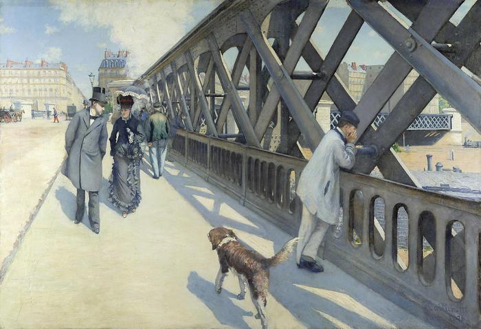 Az Európa híd, Gustave Caillebotte