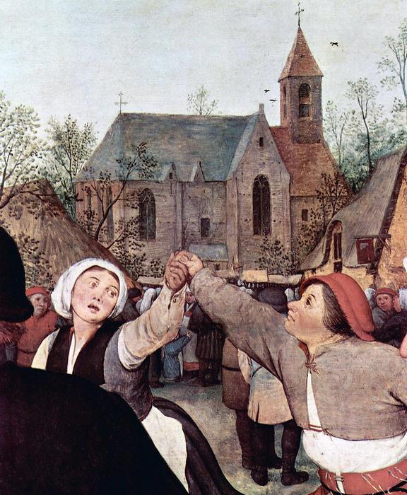 Paraszttánc, részlet (színverzió 1), Pieter Bruegel the Elder