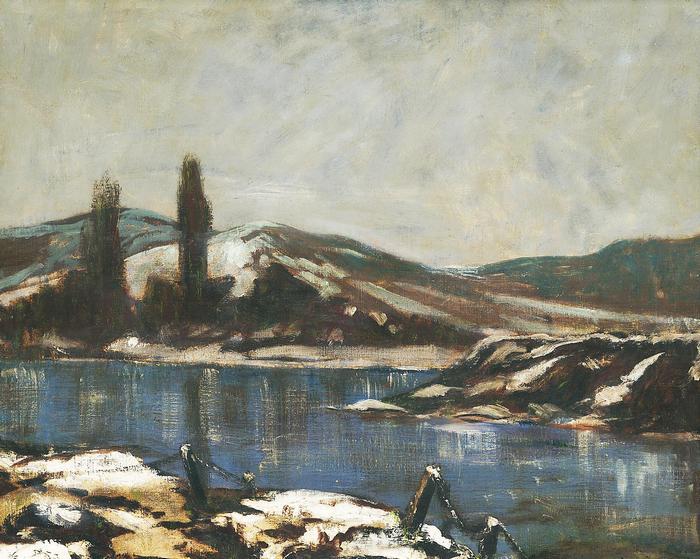 Téli táj folyóval, Mednyánszky László