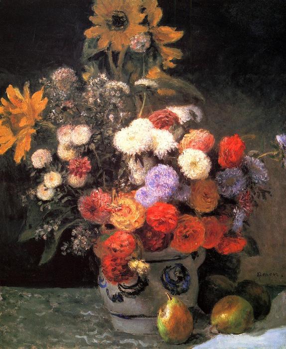 Virágok a vázában, Pierre Auguste Renoir