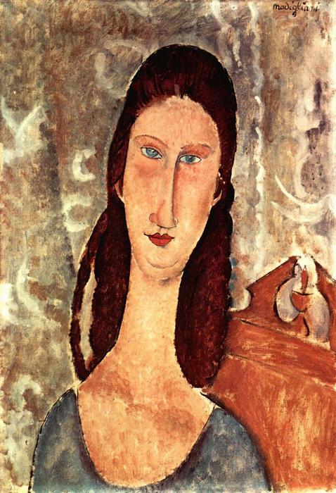 Jeanne Hebuterne portréja, Modigliani