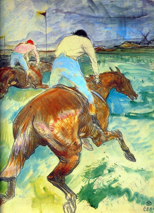 Zsokék a lovon, Henri de Toulouse Lautrec