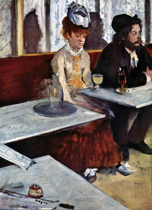 Abszint, 1876, Edgar Degas