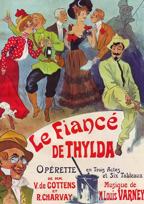 Le Fiancé de Thylda, Jules Chéret