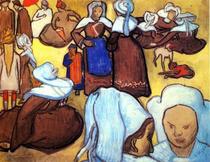 Breton asszonyok (1888), Vincent Van Gogh