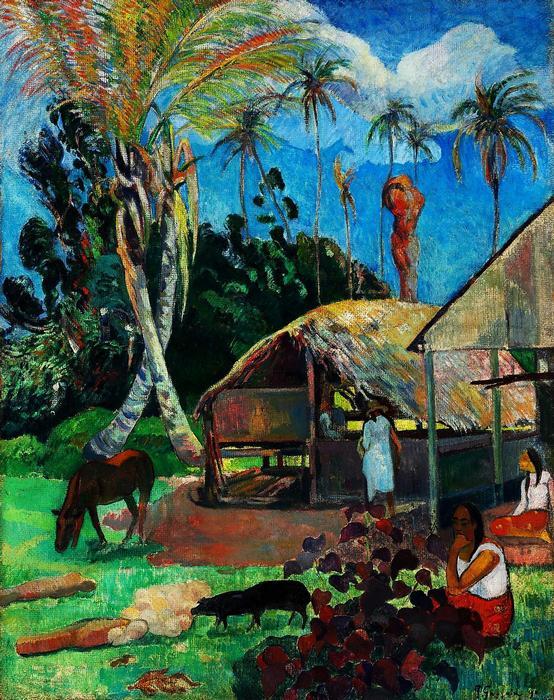 A fekete sertések (1891) - Színverzió 1., Paul Gauguin