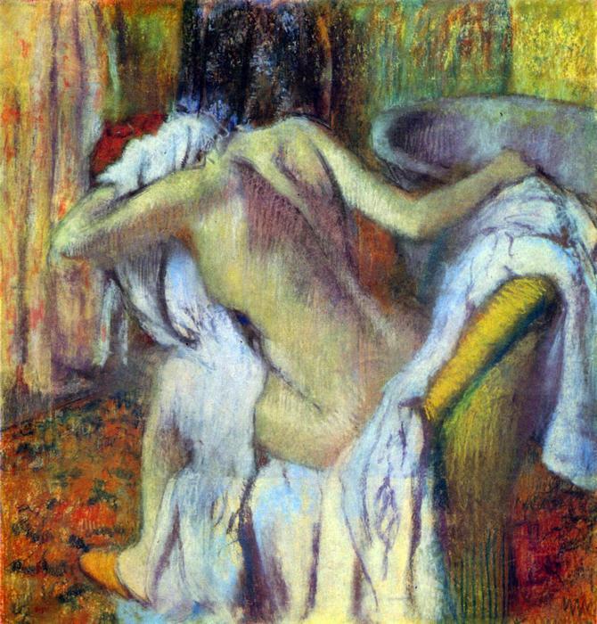 Fürdés után, No. 4, Edgar Degas