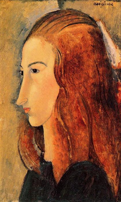 Jeanne Hebuterne portréja, No.5., Modigliani