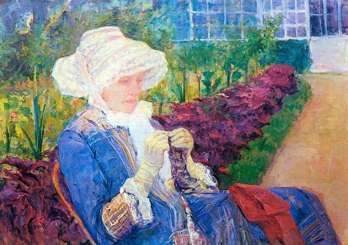 Lydia Marly kertjében, Mary Cassatt