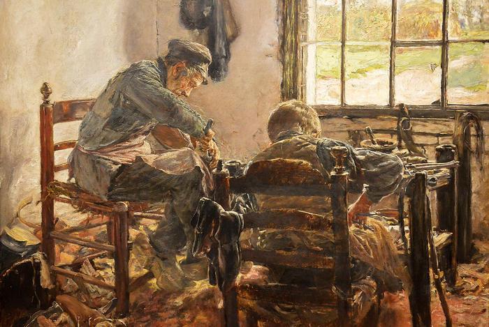 Cipészműhely, Max Liebermann
