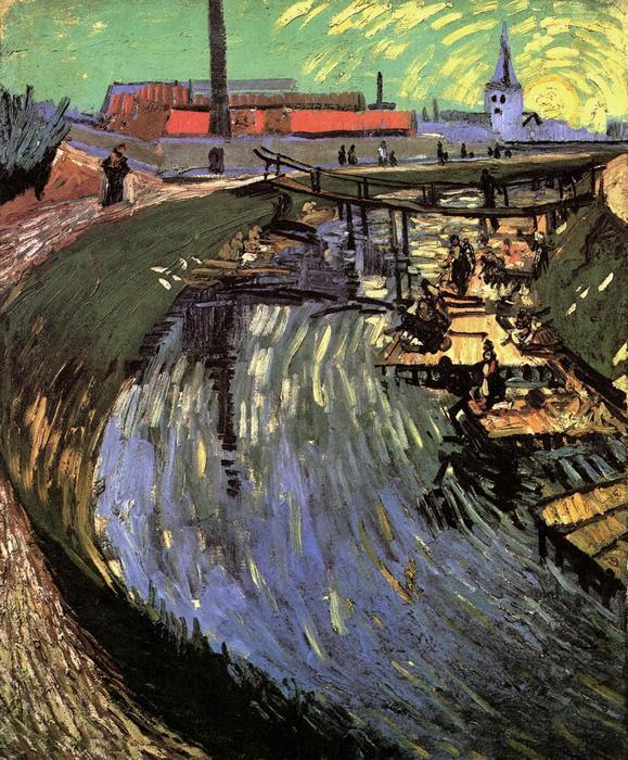 Mosónők a csatornánál, Vincent Van Gogh