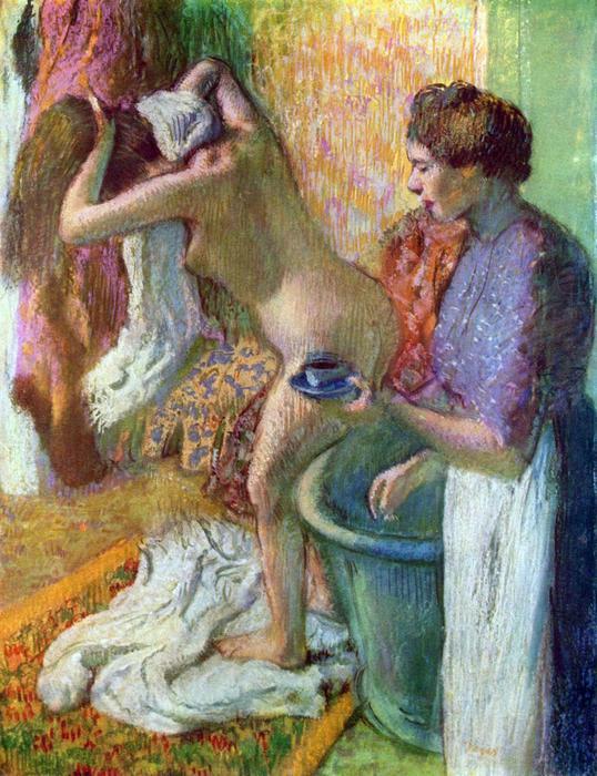 Fürdés után, No. 1., Edgar Degas