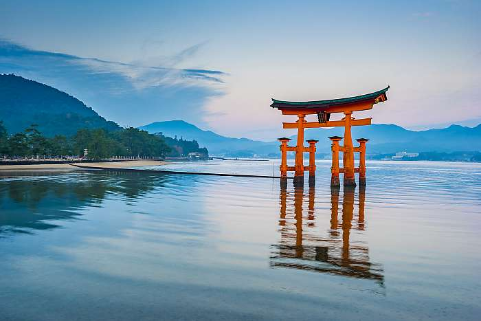 A Floating Torii kapu Miyajima-ban, Japánban, Premium Kollekció
