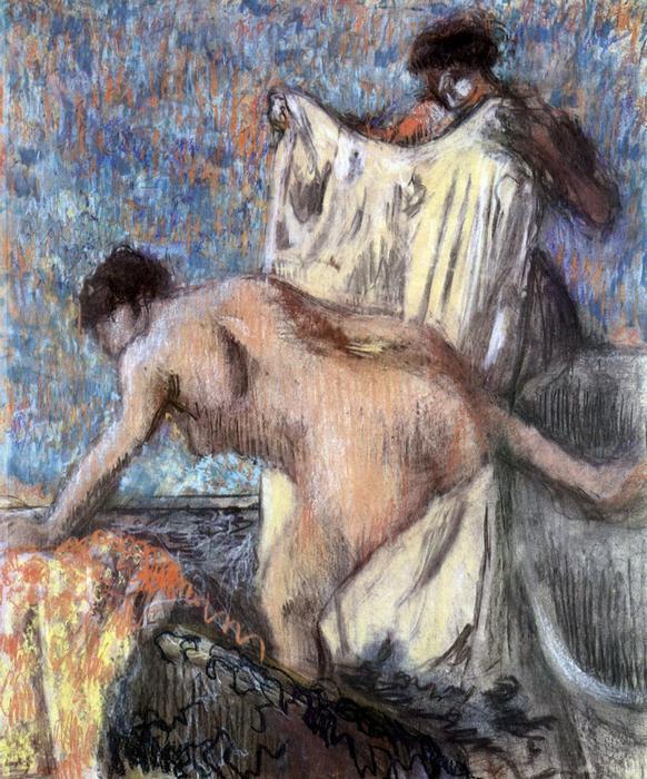 Fürdés után, No. 3., Edgar Degas