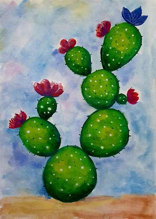 Kaktusz akvarell, Partner Kollekció