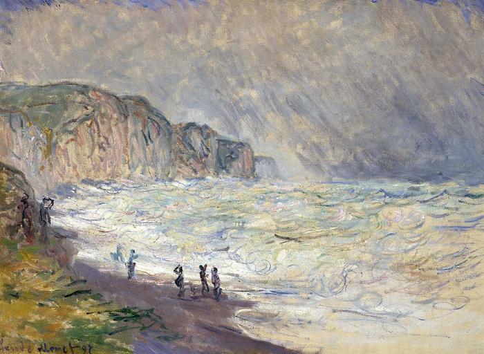 Háborgó tenger Pourville-nél (1897), Claude Monet