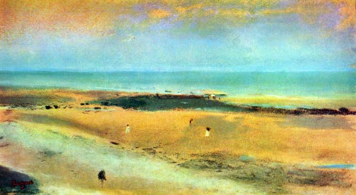 Tengerpart apálykor, No.1., Edgar Degas