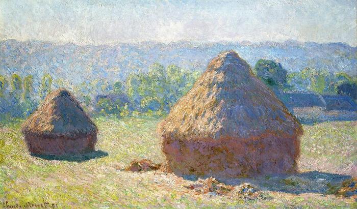 Szénaboglyák, nyár végén (1891), Claude Monet