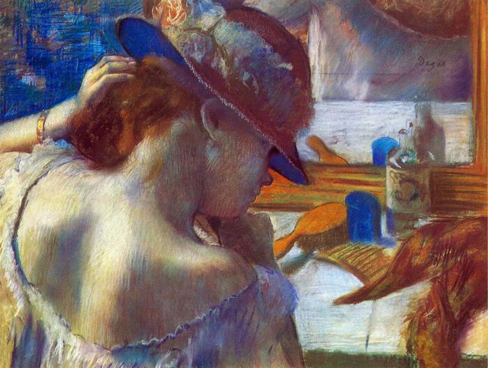 A tükör előtt, Edgar Degas