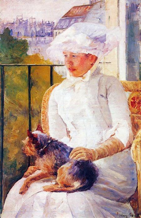 Hölgy kutyával, Mary Cassatt