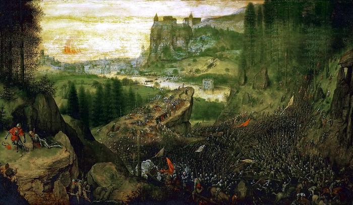 Saul halála (színverzió 1.), Pieter Bruegel the Elder