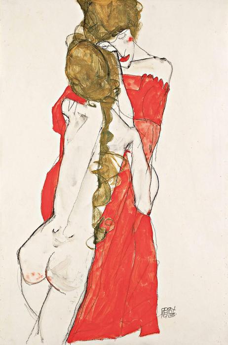 Anya és lánya (1912), Egon Schiele