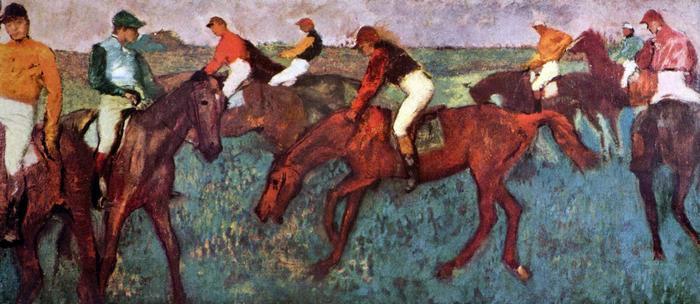 Start előtt, Edgar Degas