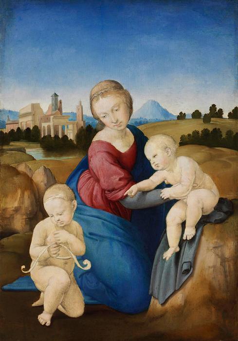 Eszterházy Madonna (szín korrigált), Raffaello (Raphael)