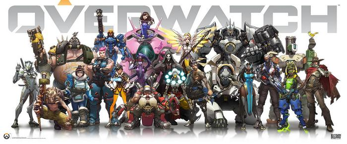 Overwatch Heroes White & Wide,