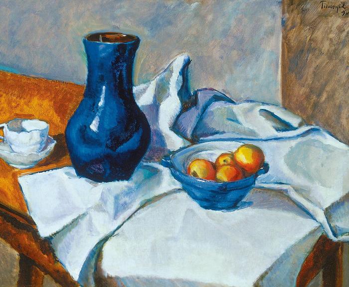 Csendélet kék vázával (1911), Tihanyi Lajos