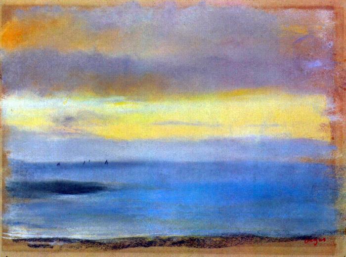 Tengerpart naplementében, Edgar Degas