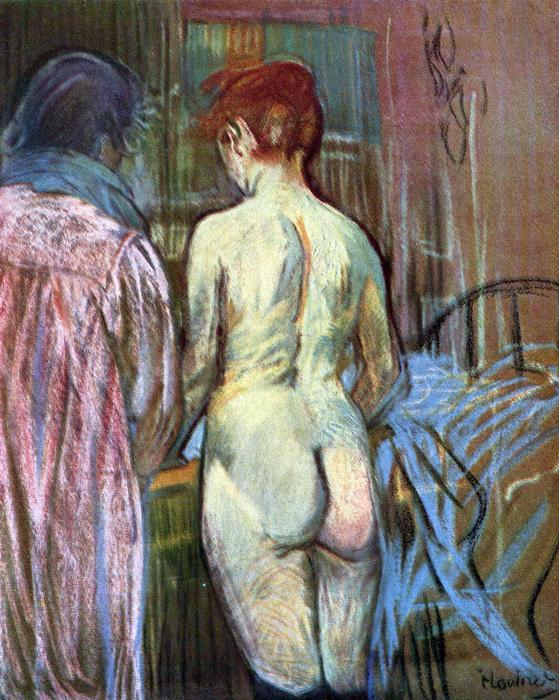 Két lány hátulról, Henri de Toulouse Lautrec