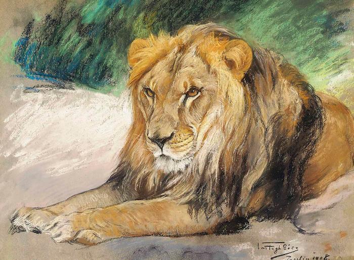 Pihenő oroszlán, Vastagh Géza