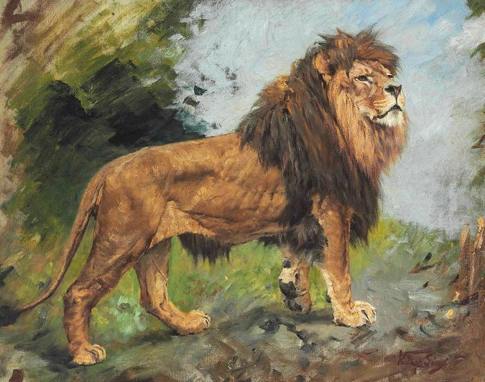 Sétáló oroszlán, Vastagh Géza
