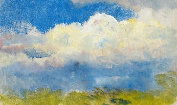 Tavaszi égbolt (tanulmány, részlet), Mednyánszky László