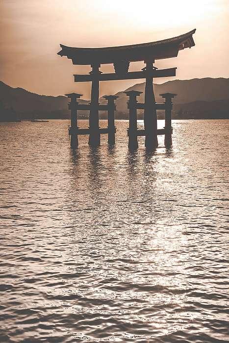 A Floating Otorii kapu Japánban, Miyajimában., Premium Kollekció