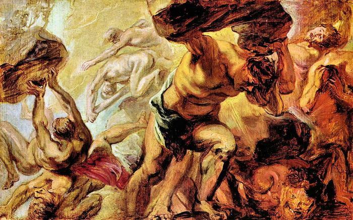 Titánok bukása, Peter Paul Rubens