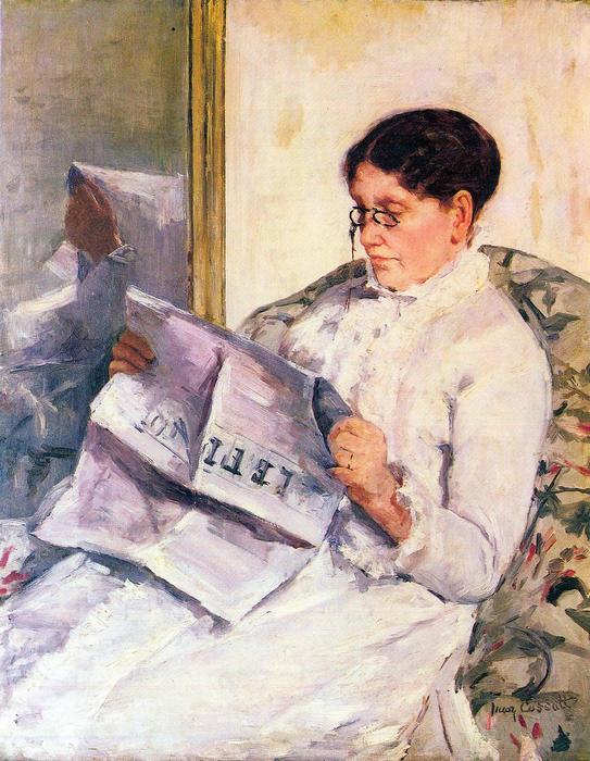 Figaro-t olvasó nő, Mary Cassatt