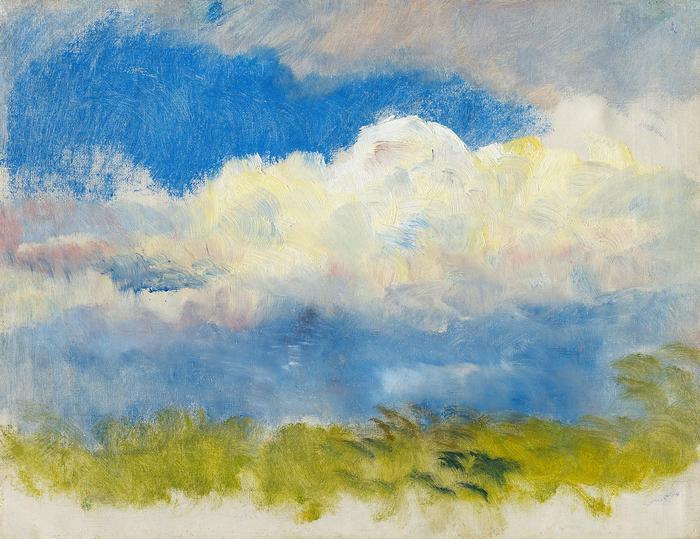 Tavaszi égbolt (tanulmány), Mednyánszky László