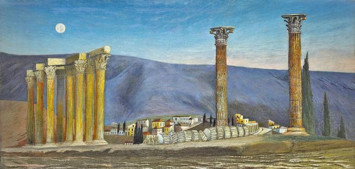 A Jupiter-templom romjai Athénban , Csontváry Kosztka Tivadar