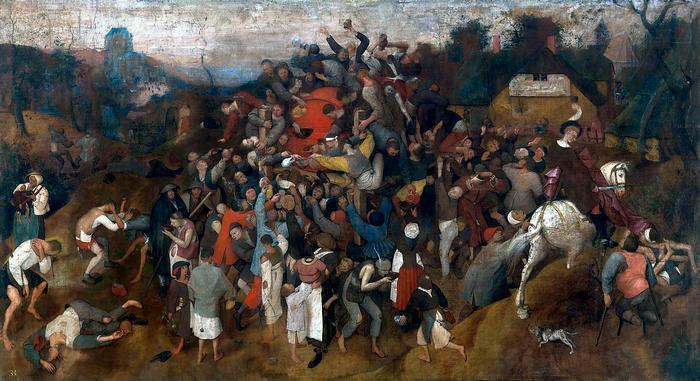 Szent Márton bora (színverzió 1.), Pieter Bruegel the Elder