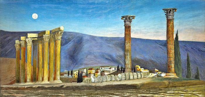 A Jupiter-templom romjai Athénban (színverzió 1), Csontváry Kosztka Tivadar