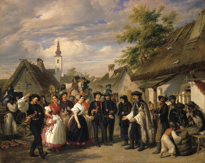 A menyasszony megérkezése, Barabás Miklós
