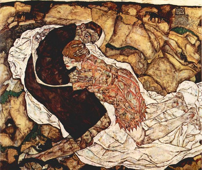 Egy asszony és a Halál, Egon Schiele
